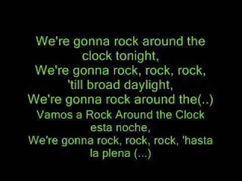 Billy Halley - Rock around the clock - Lyrics