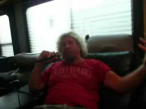 Sammy Hagar Interview @ Rock The Bayou 2008 (unedited!)