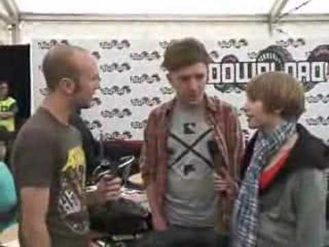 Rolo Tomassi backstage at Download 2008