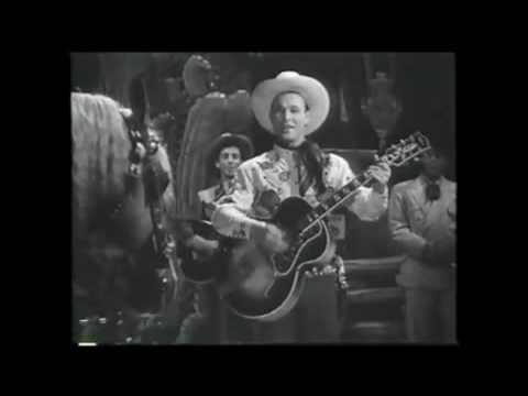 "Roy Rogers sings ""DON`T FENCE ME IN"" in ""Hollywood Canteen"" with TRIGGER"