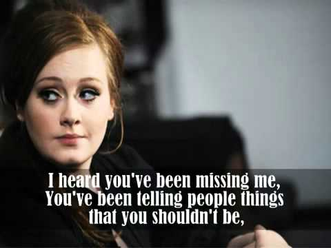 Rumor Has It [HQ] by Adele lyrics + Ringtone Download