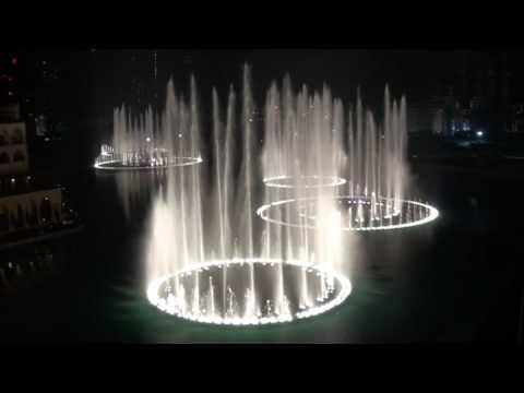 Burj Dubai Khalifa Fountain `Time to Say Goodbye`