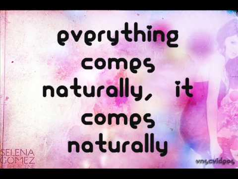 Selena Gomez - Naturally [Lyrics On Screen]