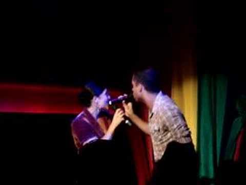 Shoshana Bean and Jai Rodriguez singing at XL in NYC