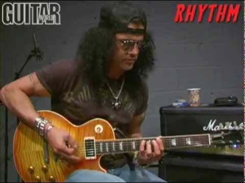 Slash jamming on American Man - rhythm and lead