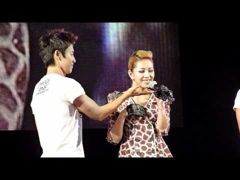 BoA * punches Donghae Moment @ SMTOWN LIVE LA 2010