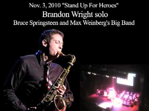Brandon Wright solo with Bruce Springsteen and Max Weinberg`s Big Band