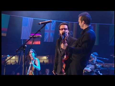 The Corrs & Bono - When the Stars Go Blue (Live 8)