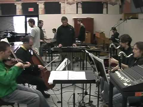 Steve Reich ? Music for 18 Musicians rehearsal