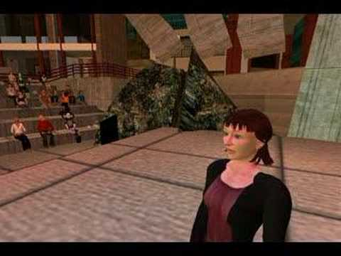 "Virtual Suzanne Vega Sings ""Tom`s Diner"" in Second Life"