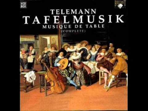 Georg Philipp Telemann - Quartet in G major, TWV43:G2 (from Tafelmusik, production I) (1/2).
