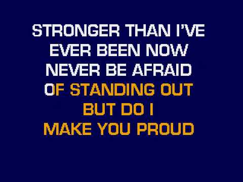 Taylor Hicks - Do I Make You Proud Karaoke