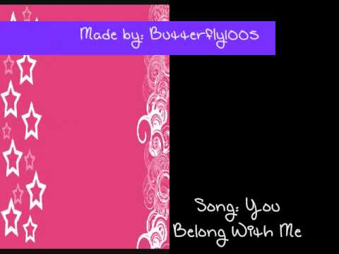 Taylor Swift- You Belong With Me (With Lyrics) + HQ