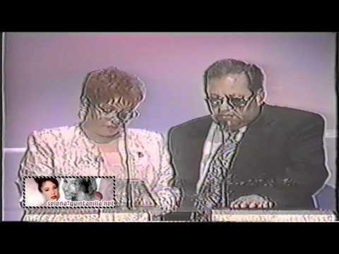 1996 Tejano Music Awards - Marcella & Abraham Quintanilla Accepting Selena`s Award.