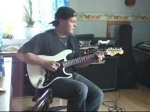 Forsman plays Texas Flood on a Strat through Peavey JSX amp