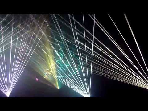 Pink Floyd - Brain Damage (Laser Show at Carolina Opry, Myrtle Beach, SC)