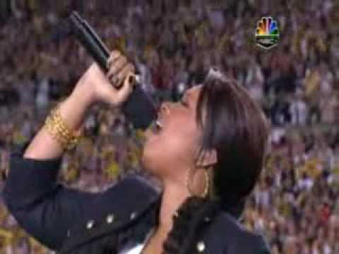 Jennifer Hudson Singing National Anthem at the Superbowl HA!