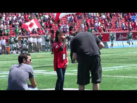 Calgary Stampeders Anthem 2010 Annie Pattison Happy Fathers Day Dad!
