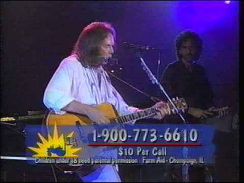 Neil Young & Willie Nelson - Helpless - Farm Aid - 1995