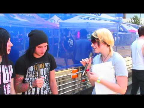 Motionless In White Interview - Warped Tour 2010 - Cleveland, OH - 7.8.10