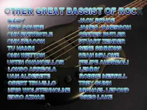 My Top 10 rock & metal bass players