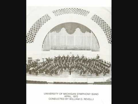 "REVELLI ~ U of Mich Symphony Band plays ""M"" Rhapsody"