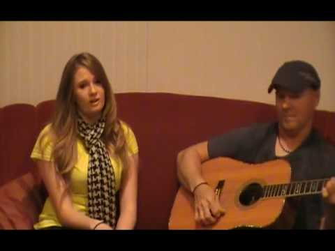 "Me ""Emily Harder"" Singing ""Fireflies"" by Owl City - with outtakes! ( acoustic cover )"