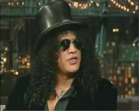 Slash Talks About Axl Rose - David Letterman Show