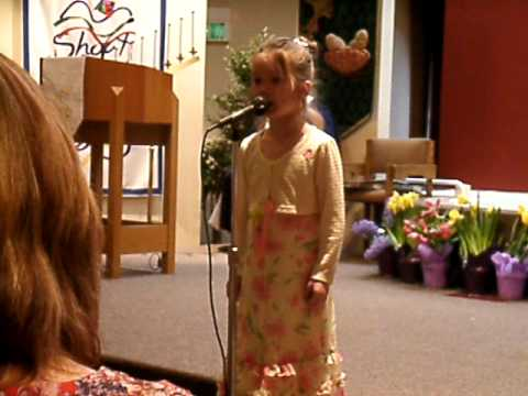 Mary Violet Sings on Easter