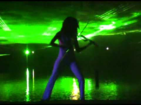 Electric Laser Violin - Pirates of the Caribbean (remix) (Caitlin)
