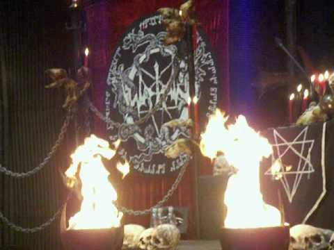 Watain - Live 6/12-08 Uppsala - Fire alarm goes off