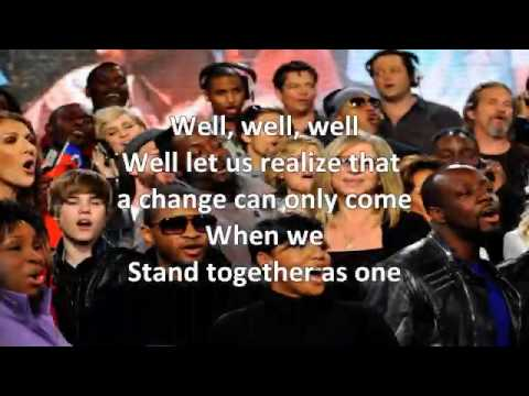 We Are The World 25 For Haiti Lyrics ( Super HQ )