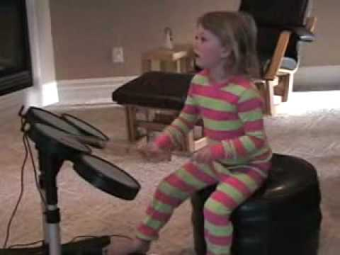 5 yr old daughter - Rock Band 2 - Eye of the Tiger - Expert - 89%