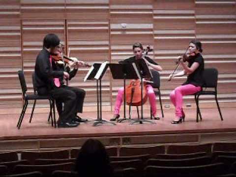 The R�zsasz�n Quartet performing Bartok Quartet No. 1 (I. Lento)