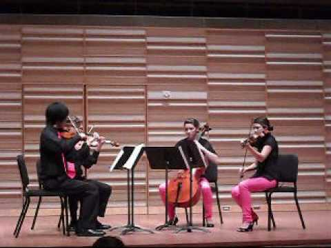 The R�zsasz�n Quartet performing Bartok Quartet No. 1 (III. Introduzione - Allegro vivace)