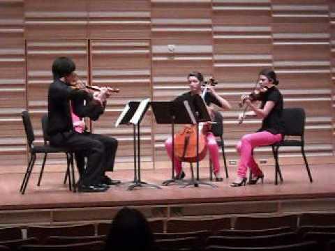 The R�zsasz�n Quartet performing Bartok Quartet No. 1 (II. Allegretto)