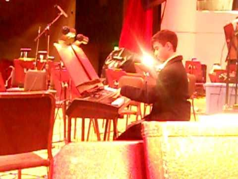 rehearsal for Star Plaza`s `Holiday Pops Concert ` Aragonaise from Le Cid, Jules Massenet (piano)