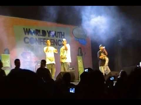 G-Town the Palestinian Hip-Hop makers in Mexico at the World Youth Conference 2010 part 01