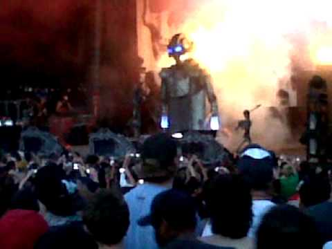 Rob ZOmbie Opening Song Mayhem Fest Oklahoma city 2010