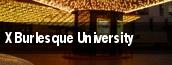 X Burlesque University tickets